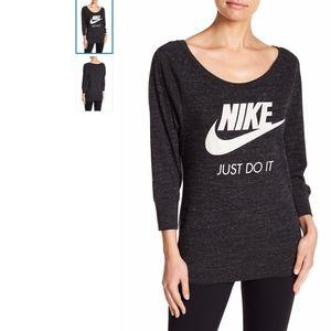 NIKE Vintage Pullover Thin Sweatshirt Scoop Neck